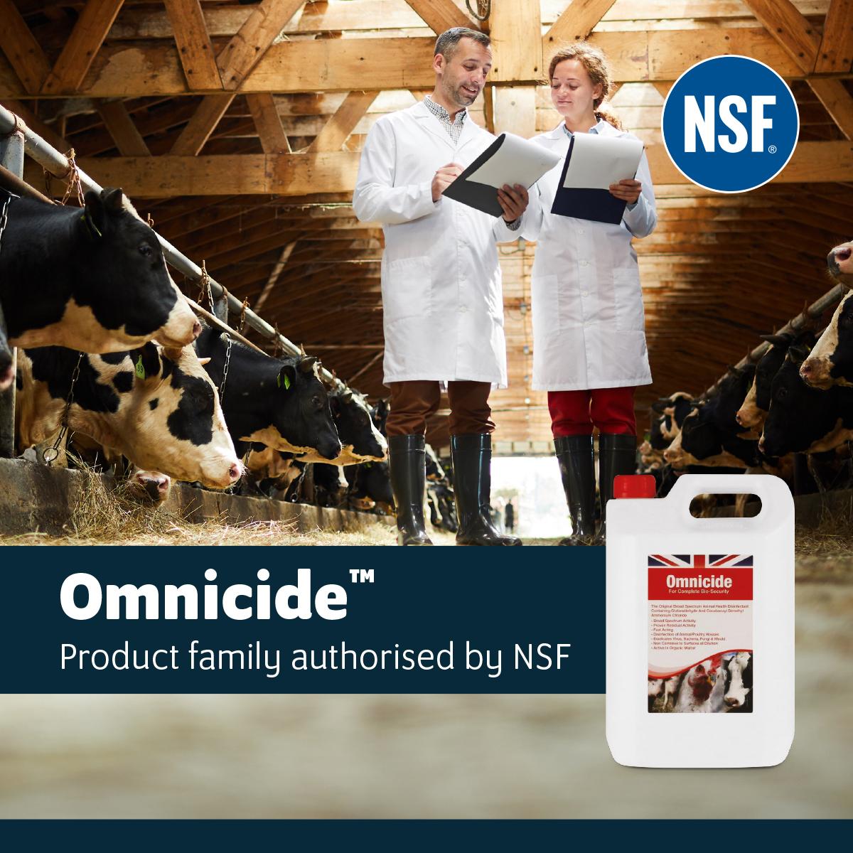 Omnicide™, Omnicide™ FG and Omnicide™ FG II Authorised to Bear the NSF Registration Mark